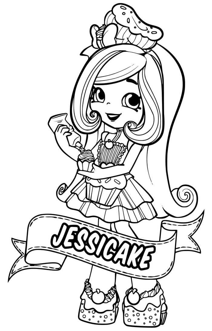 Shopkins Dolls Free Coloring Pages Display