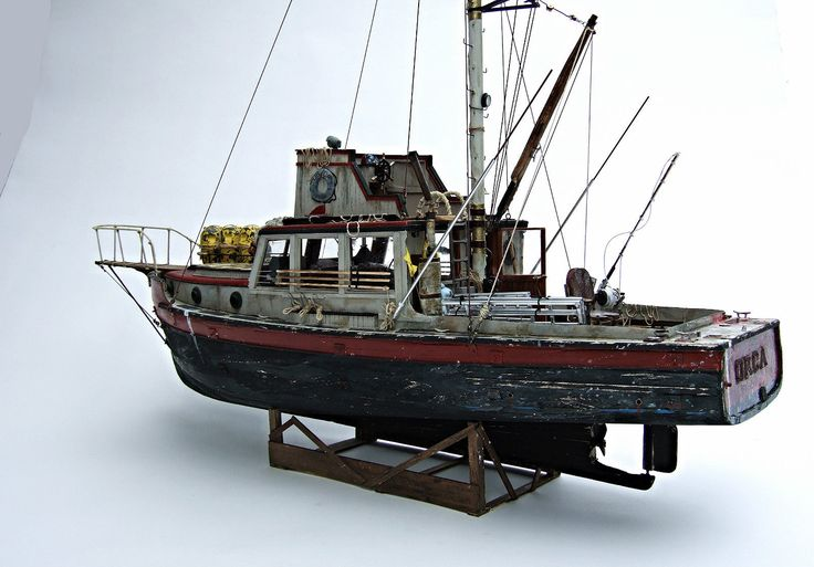 Jaws Orca Wooden Model Boat Wood Lobster Fishing Trawler SHIP Bruce Lobsterboat on eBay.. sold ...