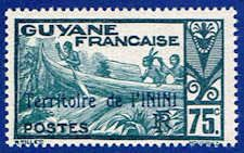 Inini 20 Stamp - Stamp of French Guinea Overprinted - SA IN 20-1 MNH
