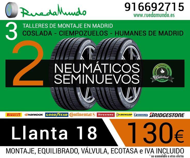 Las mejores ofertas de Madrid en ruedas seminuevas, neumáticos usados, las ruedas más baratas de Madrid las encontrará en RuedaMundo