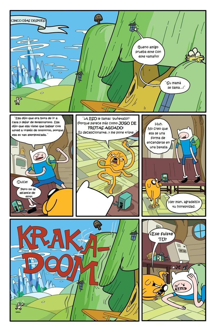 4ta página de historieta de Comic#1 Hora de Aventura en Español Latino