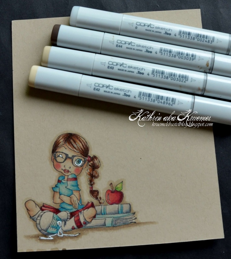 Copic Marker Europe: Coloring on Kraft Tutorial