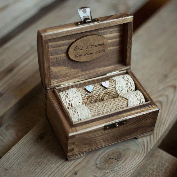 Best 25 Wooden Ring Box Ideas On Pinterest