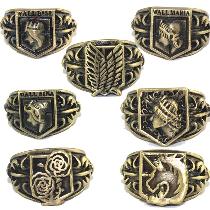 Attack on Titan anime ring collection