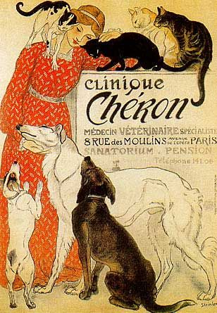 Steinlen. We have this poster in our clinic. :)