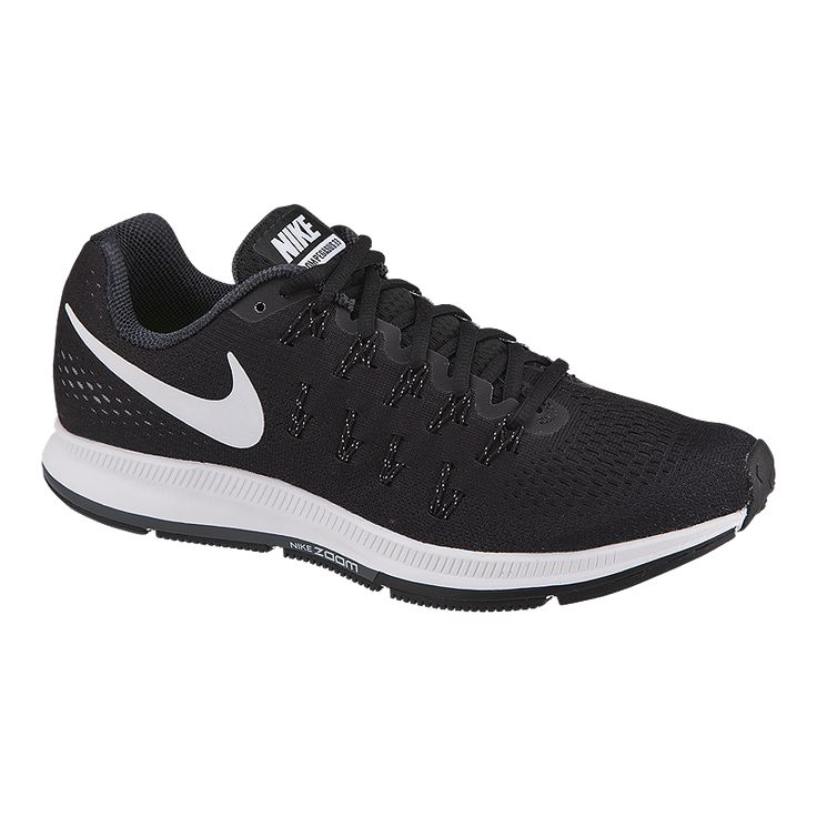 Nike Air Zoom Pegasus 33 Women's Running Shoe delivers a smooth, snappy ride with a finely tuned outsole that features impact absorbing cuts within the crash rail, Waffle pistons and a radiused heel.    $107
