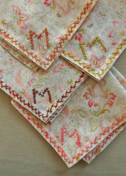 Wedding Handkerchief Tradition Diy Monogram