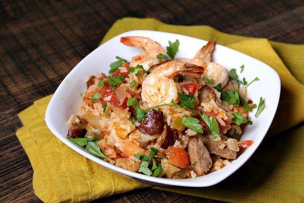 Easy Shrimp Jambalaya recipe - from RecipeGirl.com