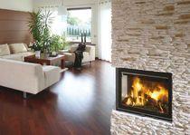 Foyer fermé à bois pour cheminée d'angle (fonte)