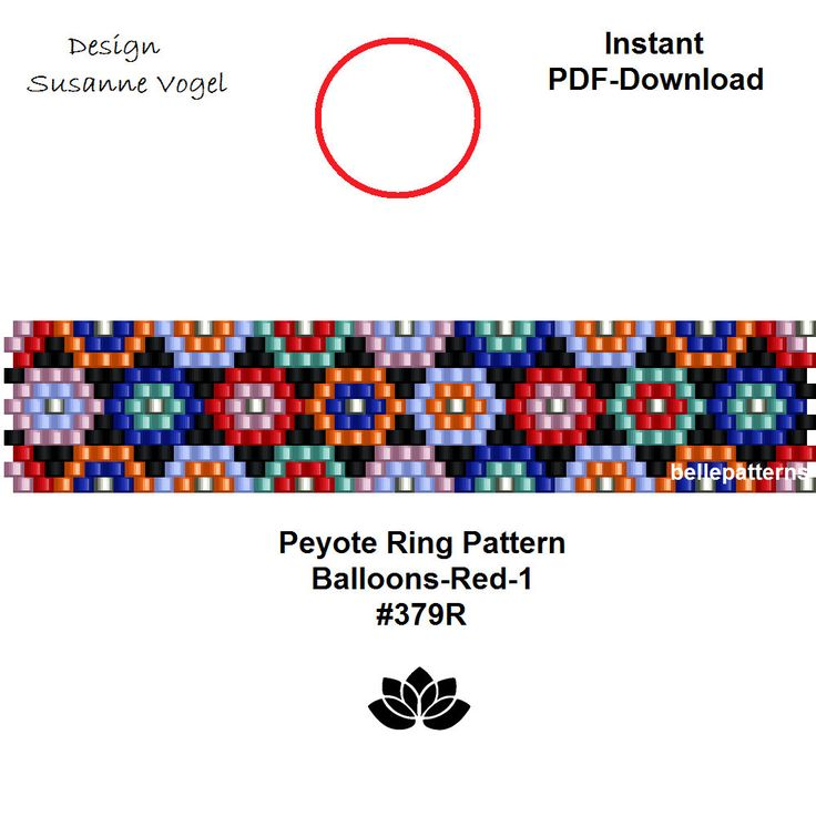 peyote ring patternPDF-Download instant downloadring