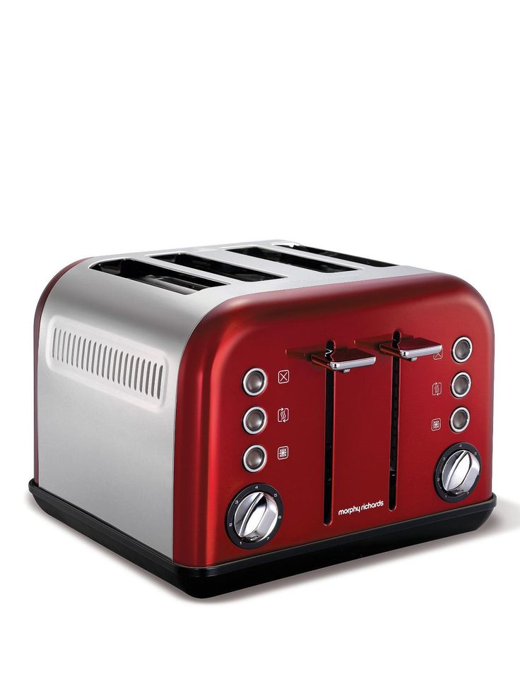 Morphy Richards 242004 Accents 4-Slice Toaster - Red | very.co.uk