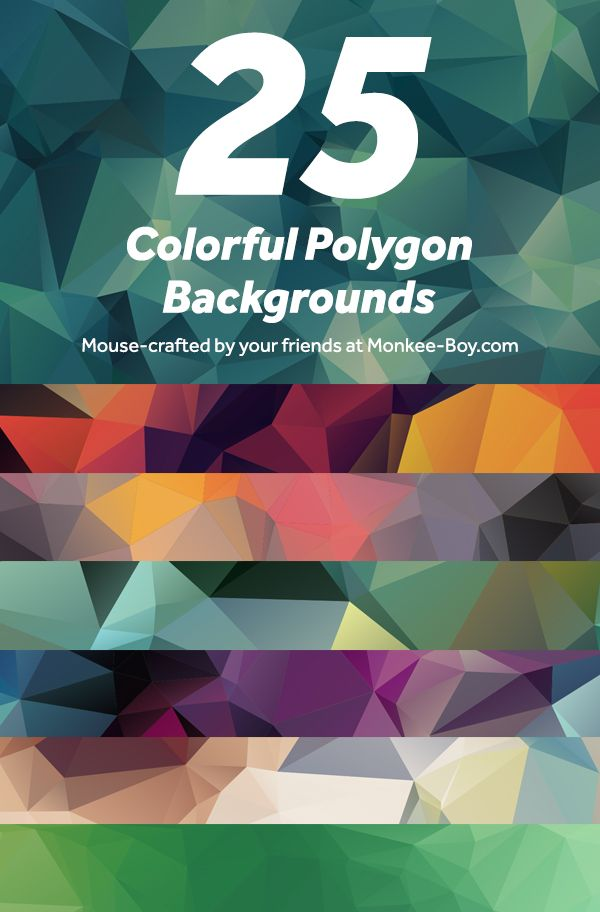 Hmmm. 25 Free Colorful Polygon Backgrounds #resources #design #backgrounds