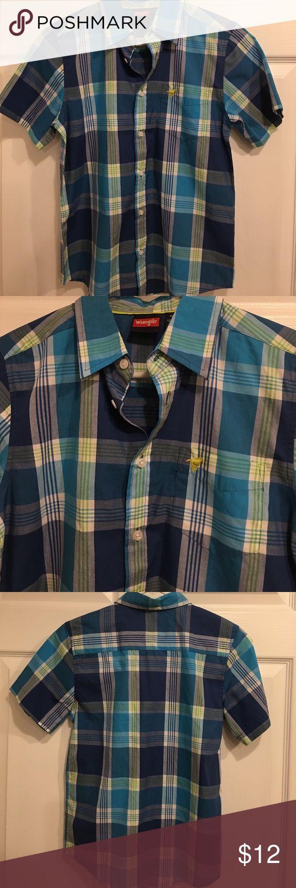 NWOT Boys Wrangler Shirt NWOT boys Wrangler shirt size L 10-12 Wrangler Shirts & Tops Button Down Shirts