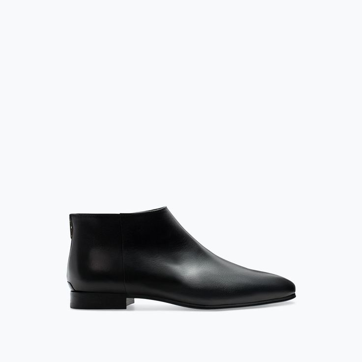 Image 1 of LEATHER ANKLE BOOT WITH ZIP from Zara