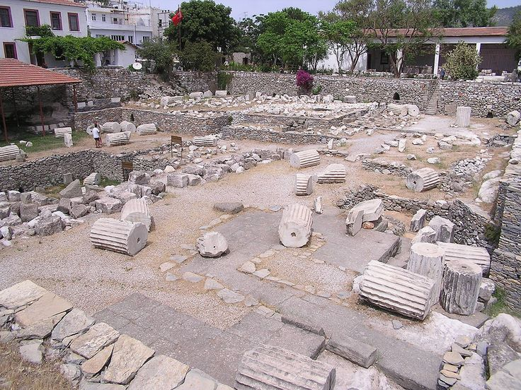 Current Mausoleum of Halicarnassus, Bodrum Turkey