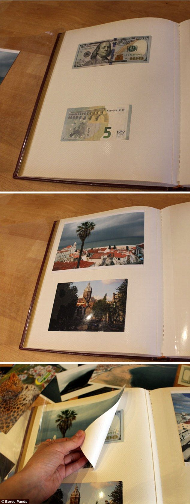 Try hiding money, especially high value bills, behind the pictures in a magnetic photo album