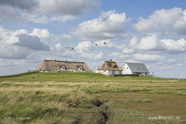 Wolkenspektakel auf der Hamburger Hallig // #Nordsee #Hallig #HamburgerHallig #Landschaft #SchleswigHolstein / gepinnt von www.MeerART.de
