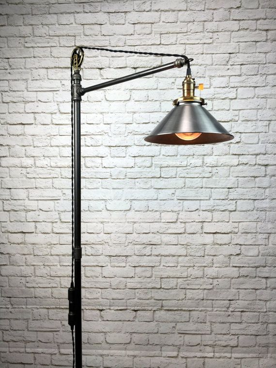 Industrial Floor Lamp - Steel Shade - Edison Bulb  - Industrial Furniture - Steampunk - Barn Light