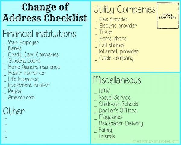 The 25 best ideas about Address Change – Dmv Change of Address Form