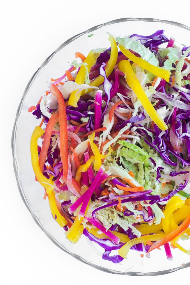 Spicy Rainbow Slaw | Recipe | Summer, Spicy and Meals