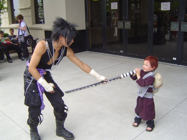 Sasuke vs Chibi Gaara 2 by EvolMaxiel