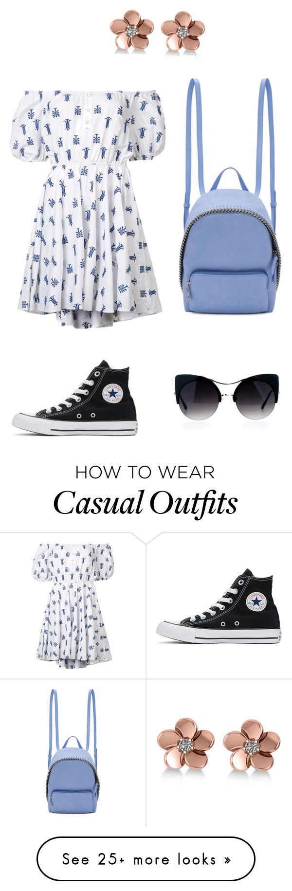 """Casual in spring"" by zoeusa on Polyvore featuring Caroline Constas, STELLA McCARTNEY, Converse and Allurez"