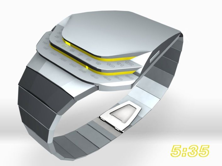 Concept watch submitted to TokyoFlash via @tokyoflash Design submitted by Kristian from Sweden.
