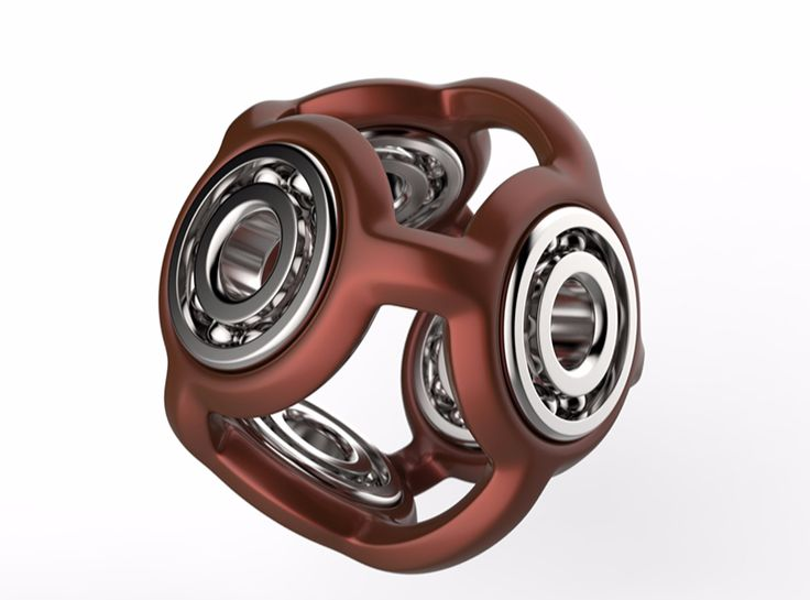 Fidget ball - a 3D model by Adrian Mankovecký | VECTARY    fidget spinner, had spinner, free 3D model, 3D printing, 3D print, finger spinner, toy, diy