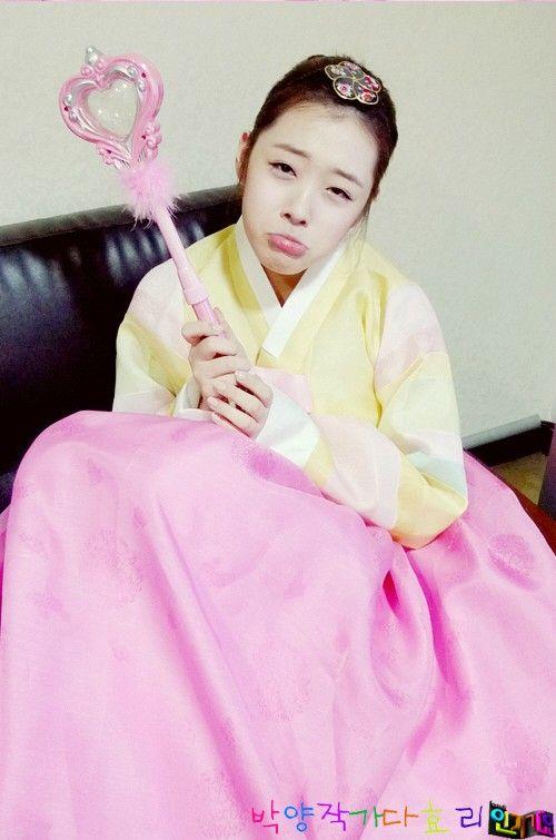 Fx Sulli in Korean Traditional Clothing 'Hanbok'