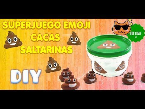 Haz un juego emoji de cacas saltarinas, divertido y fácil.Las tabas. Manualidad DIY KAWAII - YouTube