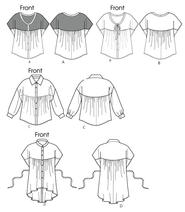 McCall's 6605 from McCall's patterns is a Misses'/Women's Tops and Tunic sewing pattern