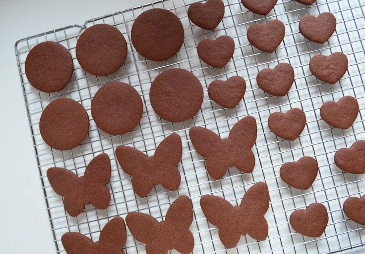 Met dit recept voor chocolade suikerkoekjes kun je alle kanten op. Ze behouden hun vorm tijdens het bakken wat ideaal is bij het decoreren met royal icing.