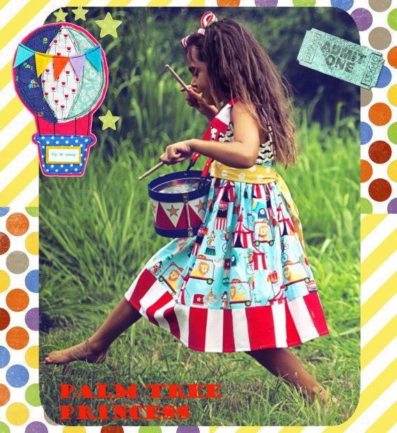 Vestido de fiesta vestido de cumpleaños circo por PalmTreePrincess