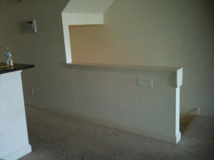 Best Remove Half Walls Replace With Wood Railing Balusters 400 x 300