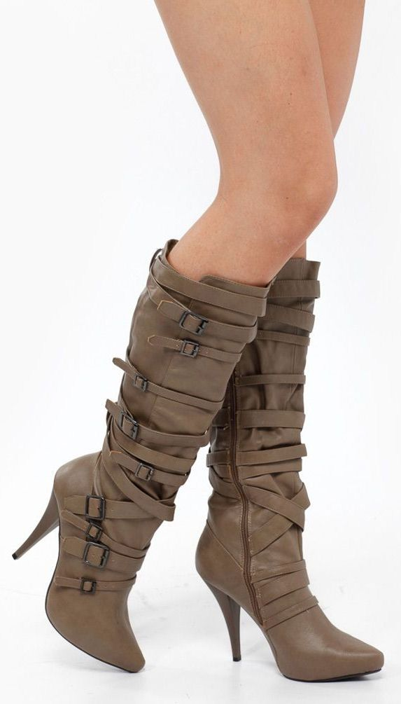 Knee High Multi Buckle Boots ♥