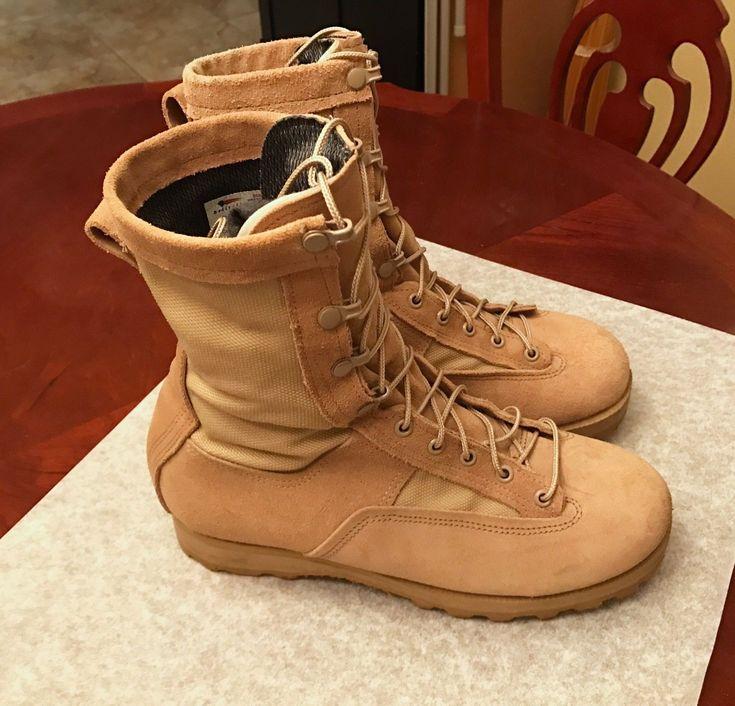 Belleville Gore-tex Desert Combat Boots ~Vibram Sole 9.5W Army Gear Made in USA