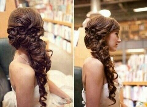 Side wedding hairstyle