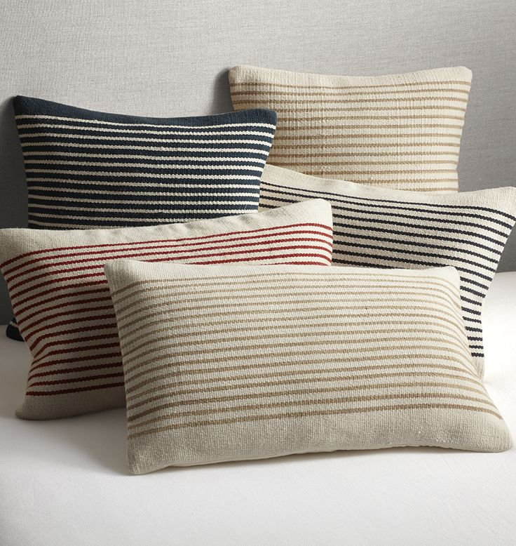 Woven Mohair Striped Pillow Cover | Rejuvenation