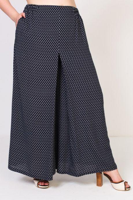 fa43cb8b495 Как сшить юбку-брюки своими руками из шифона