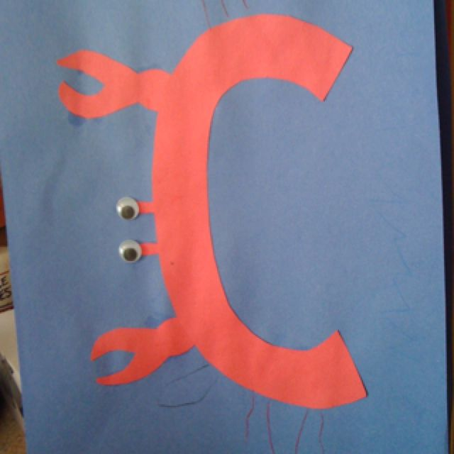 Letter C craft: Letters C Crafts, Abc Crafts, Letters Crafts, Letters Cc, Alphabet Crafts, Education Lett, Kindergarten Alphabet, Letter C Crafts, 640