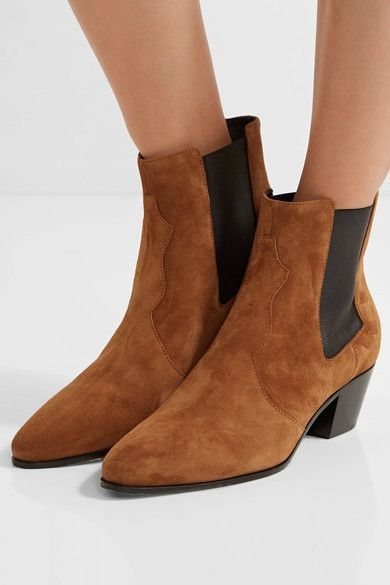 Saint Laurent - Rock Suede Chelsea Boots - Tan - IT39.5