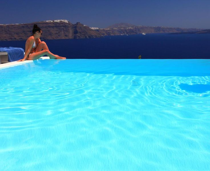 #relax by the #pool... #Santorini #VolcanicView #AndronisExperience