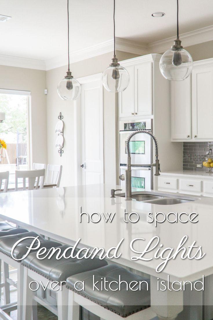 spacing pendant lights over kitchen