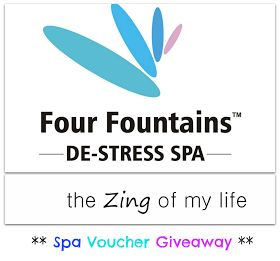 The Zing Of My Life: Contest and Spa Voucher Giveaway by The Four Fountains Spa