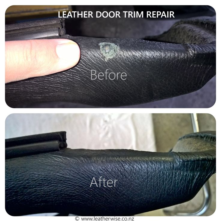 The owner of a Ford Fairmont Ghia brought in a leather door panel with a problem. We made it go away.
