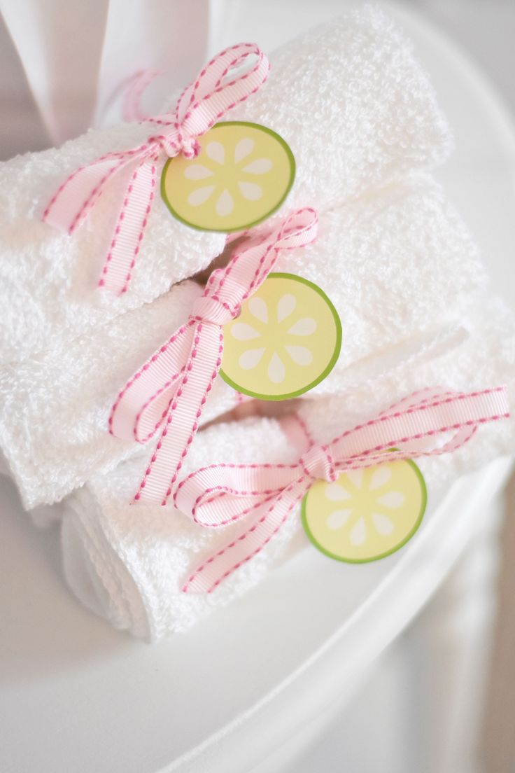 Spa-Themed Birthday Party Favors