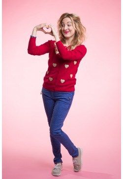 How does this playful Type 1outfit with the heart cardigan inspire you to  live your truth