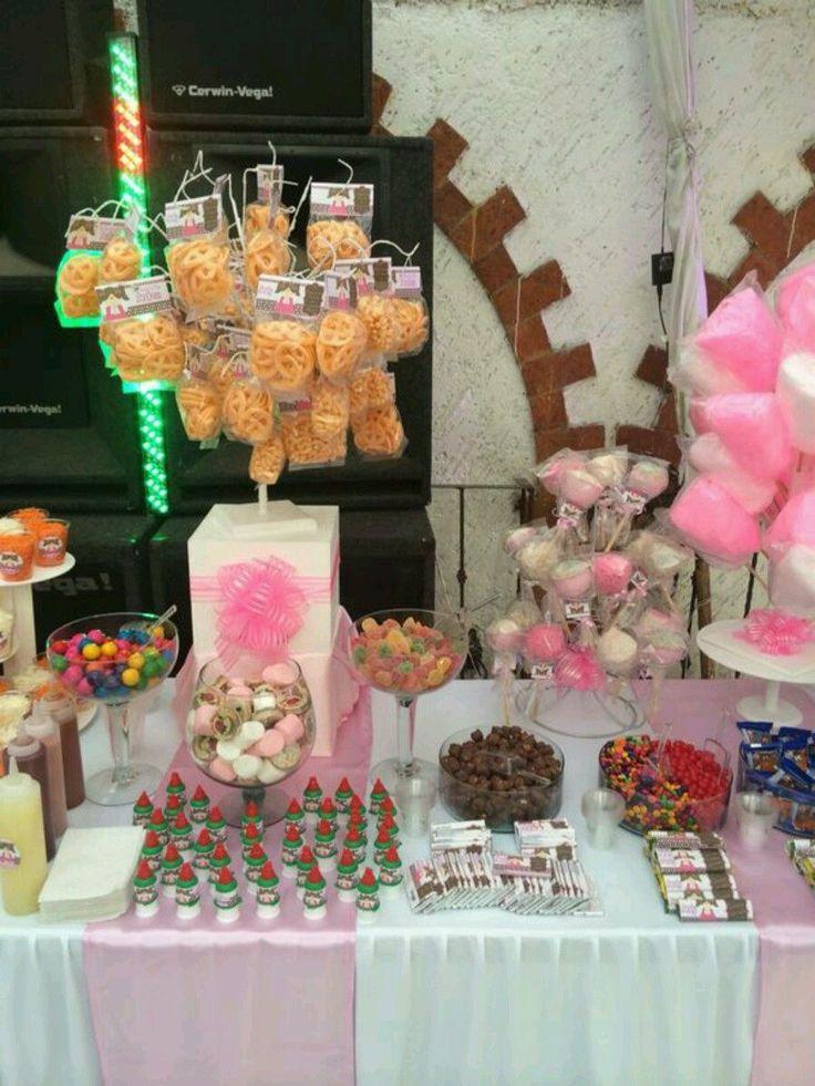 Mesa de dulces ideal bodas bautizos xv a os fiestas - Mesa de dulces para bodas ...