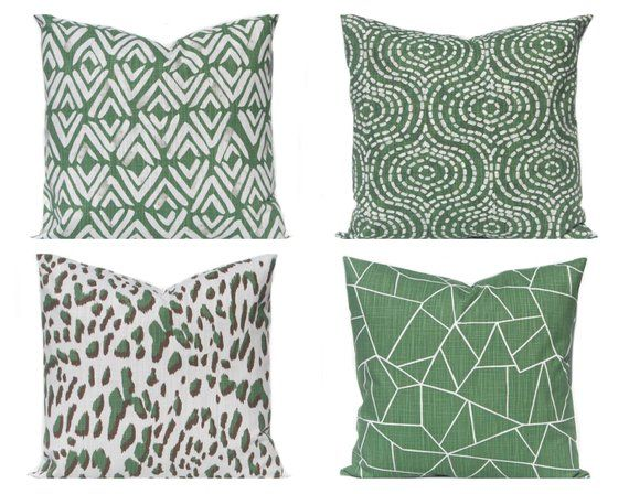 Pillow Cover Dark Green Throw Pillow Cover Green And White Sofa Pillow Covers Forest Green Dec Green Pillow Covers Green Throw Pillows Green Cushions
