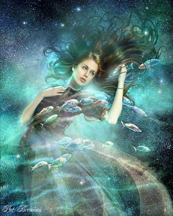 """Pisces"" by Pat Brennan (Digital Art / Photomanipulation / Fantasy)."